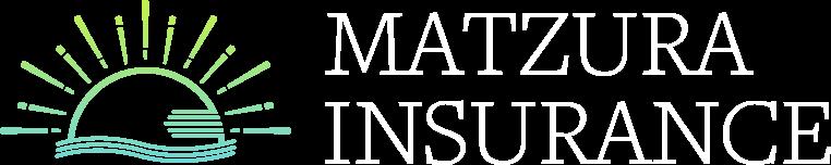 Matzura Insurance logo white text | Insurance solutions